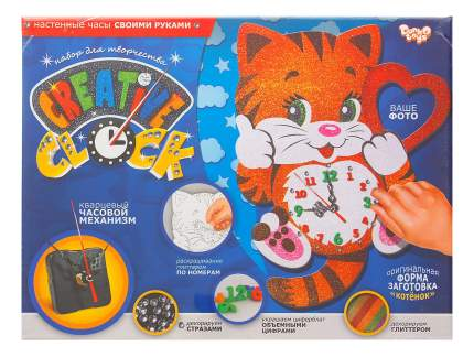 Аппликация из страз, пайеток Danko Toys Котёнок