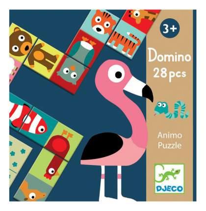 Семейная настольная игра Djeco Домино Животные