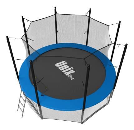 Батут Unix Line Inside с сеткой и лестницей 183 см, blue