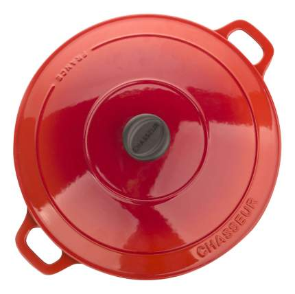 Кастрюля для запекания CHASSEUR Чугунная 6,3 л алый