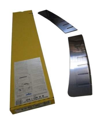alu-frost Накладка на задний бампер профилированная с загибом для mazda mazda 6 ii 4/5d (2