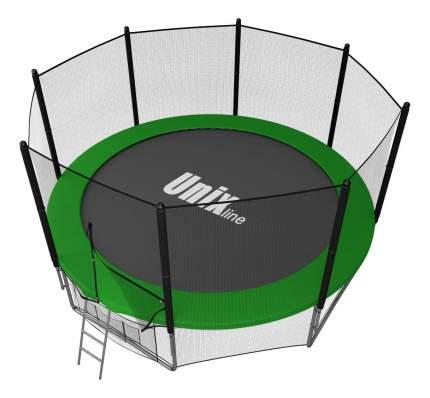 Батут Unix Line Outside с сеткой и лестницей 305 см, green