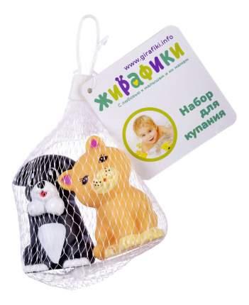 Игрушка для купания Жирафики Котенок и щенок