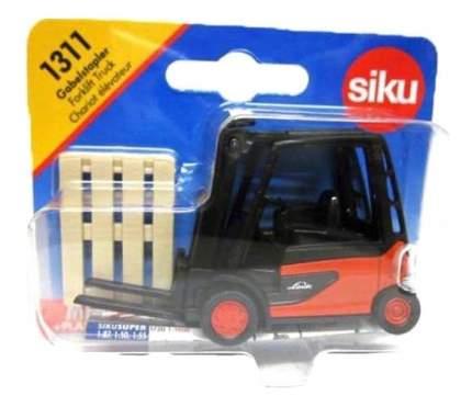 Коллекционная модель Siku Автопогрузчик Штабелер Linde с платформой