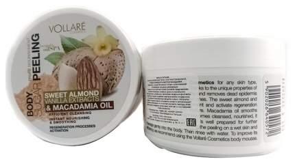 Сахарный пилинг Vollare с экстрактом ванили сладкого миндаля и маслом макадамия 225г
