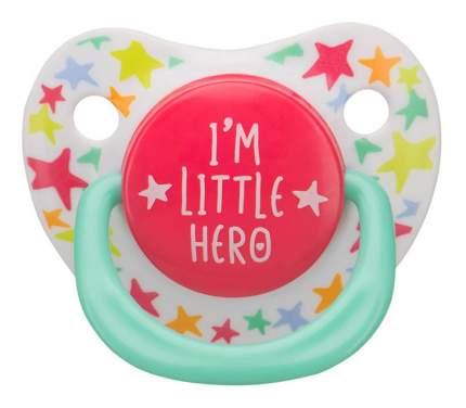 Соска-пустышка силиконовая симметричной формы I am a Hero Happy Baby 1 шт.