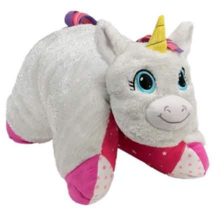 Подушка-игрушка Вывернушка 1Toy 2 в 1,белый Единорог-Розовая Кошечка Т12040