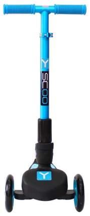 Самокат трехколесный Y-Scoo rt trio maxi 120 blue