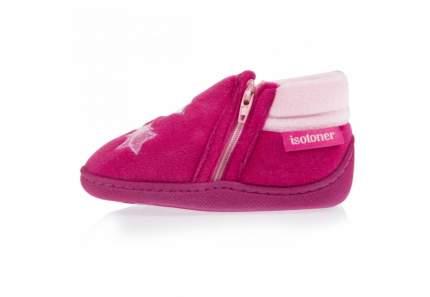Ботиночки Isotoner на молнии велюр розовый