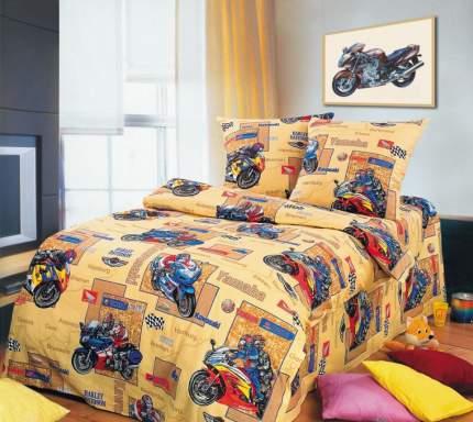 Комплект Детского постельного белья Мотоспорт 1,5 спальный