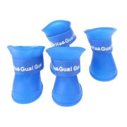Ботинки для собак Грызлик Ам, силиконовые, голубые, XL, 7,5 см на 6 см