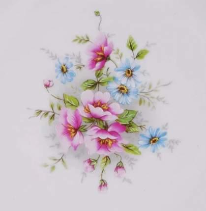 Leander Ваза для фруктов Соната Весенние цветы, 23 см, на ножке