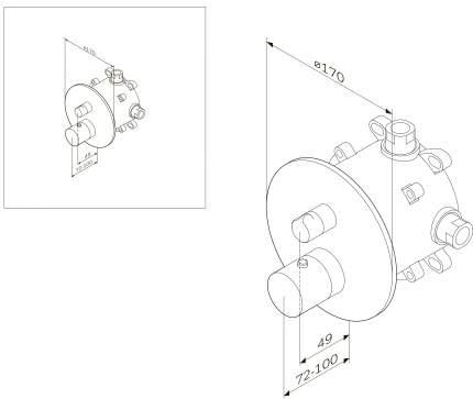 Смеситель для встраиваемой системы AM.PM Like F8085500 хром