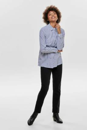Рубашка женская ONLY 15185308 синяя 34 EU