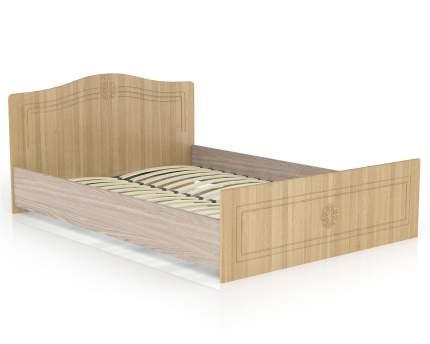 Кровать 1400 Мебельный Двор Онега лён КР-1400 147х204х84, сп. м. 1400х2000 мм.