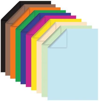 Цветная бумага Brauberg 124715 А4, 10 цветов...
