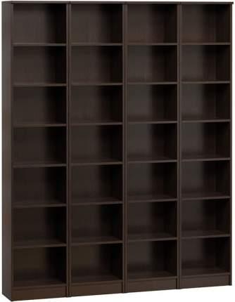 Шкаф книжный Divan.ru Цезарь-2 40х160х200, венге темный