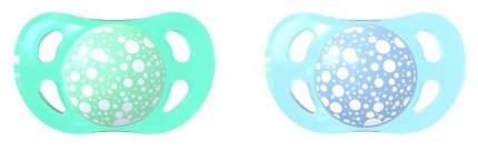 Пустышка Twistshake Pastel, цвет: синий и зеленый, 2 штуки (small)