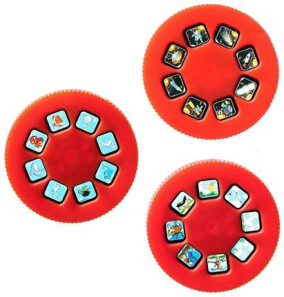 Диапроектор-фонарик Bondibon, 3 диска со слайдами, CRD 21х14,5х3,5 см.