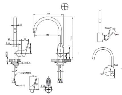 Смеситель для кухонной мойки BRAVAT F748162C-2