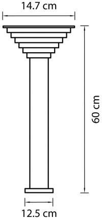 Фонарный столб Lightstar Piatto 379947