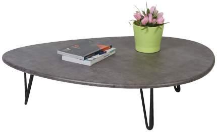 Журнальный стол Мебелик 24х94х69 см, серый