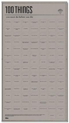 Постер Doiy 100 вещей, которые нужно сделать прежде чем умереть