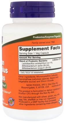 Для пищеварения NOW 8 Billion Acidophilus&Bifidus 120 капсул