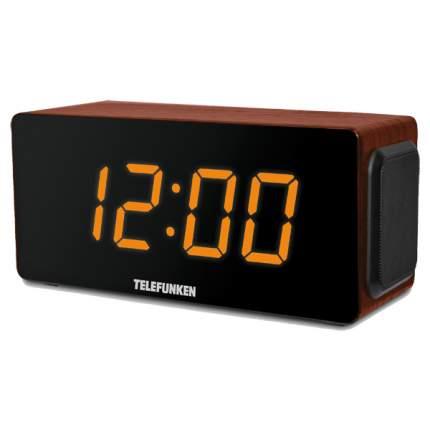 Радио-часы TELEFUNKEN TF-1566U Brown Wood/Orange