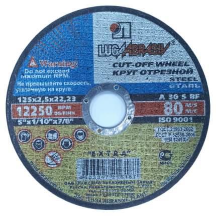 Диск отрезной абразивный по металлу для УШМ ЛУГА 3612-125-2,5