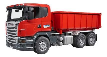Самосвал-контейнеровоз Bruder Scania (подходит модуль со звуком и светом h)