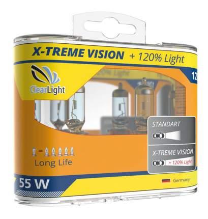 Лампа галогенная автомобильная Clearlight 55W X-treme Vision +120% Light 2 шт (MLH11XTV)