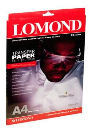 Термобумага Lomond Ink Jet Transfer Paper for Bright Cloth 808415 50 л