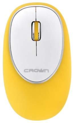 Мышь беспроводная Crown CMM-931W желтый белый USB