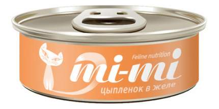 Консервы для кошек и котят Mimi, с цыпленком в желе, 80г