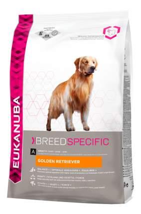 Сухой корм для собак Eukanuba Adult Breed Specific, голден-ретривер, индейка, птица, 12кг