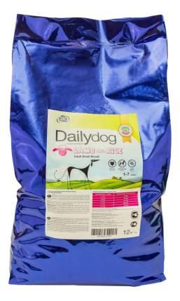 Сухой корм для собак Dailydog Adult Small Breed, для мелких пород, ягненок и рис, 12кг