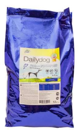 Сухой корм для собак Dailydog Adult Small Breed, для мелких пород, рыба и картофель, 12кг