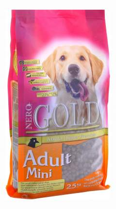 Сухой корм для собак NERO GOLD Adult Mini, для мелких пород, курица, 2,5кг