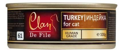 Консервы для кошек Clan De File, индейка, 16шт, 100г