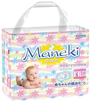 Подгузники Maneki Fantasy S (4-8 кг), 26 шт.
