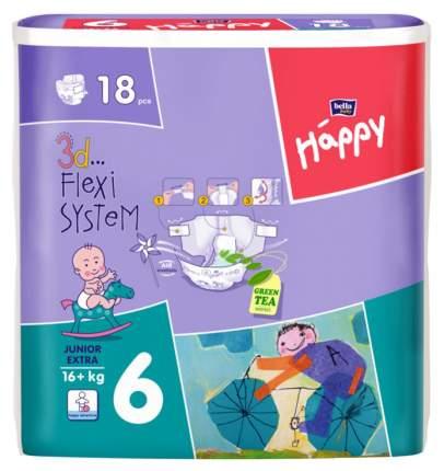 Подгузники Bella Baby Happy Junior Extra 6 (16+ кг), 18 шт.