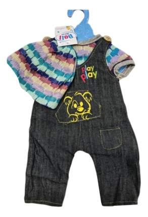 Платье и кофточка, размер: 30x20 см, текстильные материалы для кукол Junfa toys