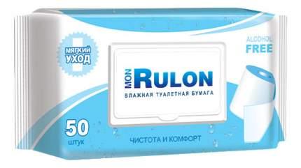 Туалетная бумага Mon rulon c пластиковым клапаном влажная 50 шт.