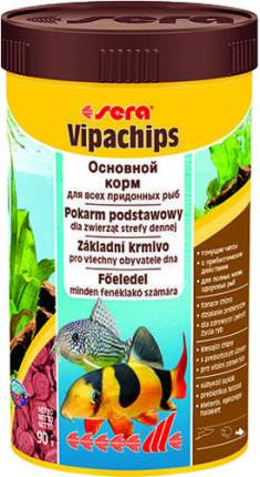 Корм для сомов и донных рыб Sera Vipachips, чипсы, 250 мл