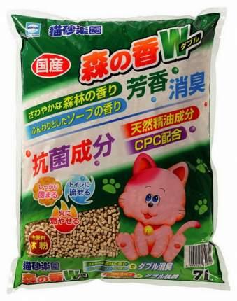Комкующийся наполнитель Japan Premium Pet древесный, горный кипарис, 2.1 кг, 7 л
