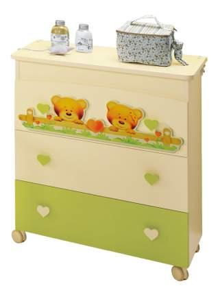 Комод детский Baby Expert Cuore крем/зеленый