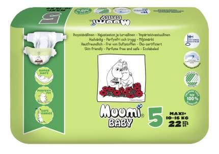 Подгузники Muumi Baby Maxi Plus (10-16кг), 22 шт.