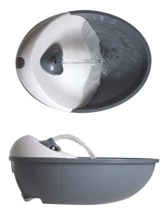 Автопоилка-фонтан для кошек и собак Feed-Ex, белый, серый, 1.8 л