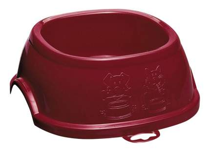 Одинарная миска для собак Stefanplast, пластик, коричневый, красный, 1 л